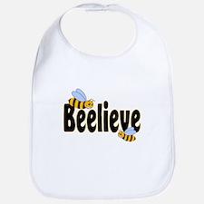 Beelieve in Black Bib