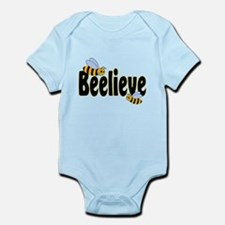 Beelieve in Black Infant Bodysuit