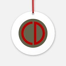 Custer Ornament (Round)