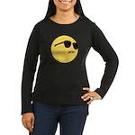 Dat Ass Smiley Women's Long Sleeve Dark T-Shirt