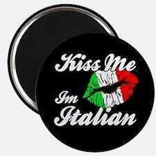 "Kiss Me - Italian 2.25"" Magnet (100 pack)"