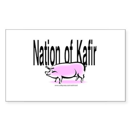 Nation of Kafir w/Pig Rectangle Sticker