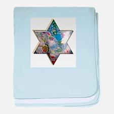 Jewish Star baby blanket