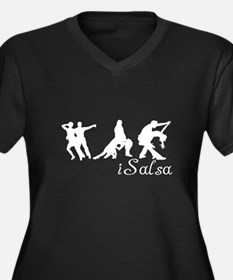 Dancer Women's Plus Size V-Neck Dark T-Shirt
