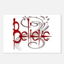 Maroon Believe with Gray Flou Postcards (Package o