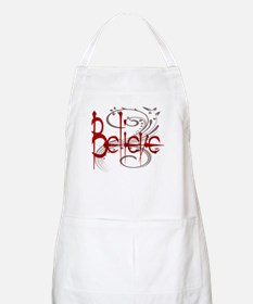 Maroon Believe with Gray Flou Apron