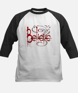 Maroon Believe with Gray Flou Tee