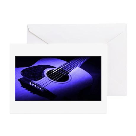 Blue Guitar Greeting Cards (Pk of 10)