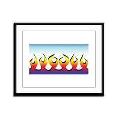 Flames Framed Panel Print