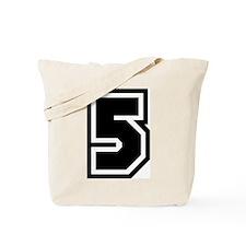 Varsity Uniform Number 5 Tote Bag