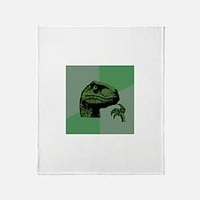 Blank Philosoraptor Throw Blanket