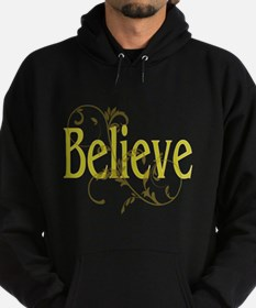 Yellow Believe with tan Flour Hoodie