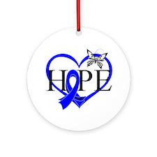 Colon Cancer Hope Heart Ornament (Round)