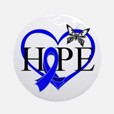 Colon Cancer Hope Heart Ornament (Round)