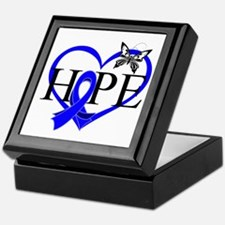Colon Cancer Hope Heart Keepsake Box