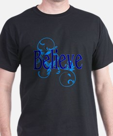 Blue Believe with Blue Floral T-Shirt