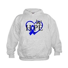 Colon Cancer Hope Heart Hoodie
