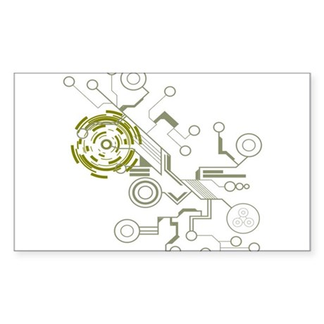 Circuitboard Sticker (Rectangle)