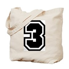 Varsity Uniform Number 3 Tote Bag