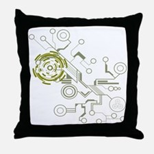 Circuitboard Throw Pillow