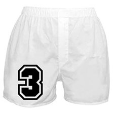 Varsity Uniform Number 3 Boxer Shorts