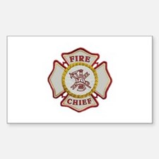 Fire Chief Maltese Sticker (Rectangle)