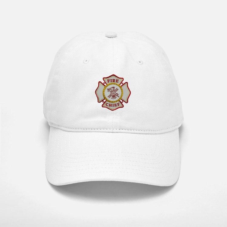 Fire Chief Maltese Baseball Baseball Cap