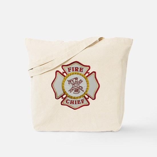 Fire Chief Maltese Tote Bag