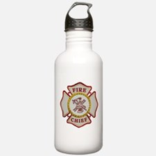 Fire Chief Maltese Water Bottle