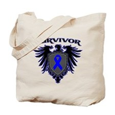 Colon Cancer Survivor Eagle C Tote Bag