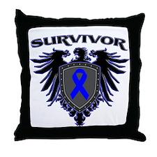Colon Cancer Survivor Eagle C Throw Pillow