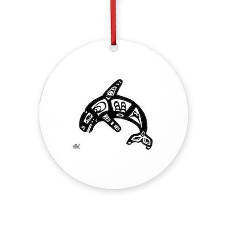 Orca Ornament (Round)