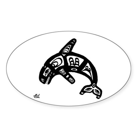 Orca Oval Sticker