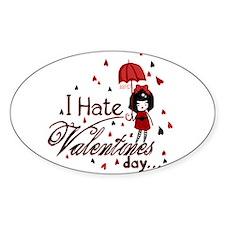I Hate Valentine's Decal