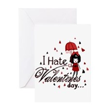 I Hate Valentine's Greeting Card