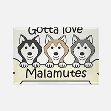 Alaskan Malamute Magnets