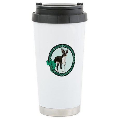 Irish Boston Terrier Stainless Steel Travel Mug