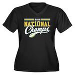 2010 Nat10nal Champs Women's Plus Size V-Neck Dark