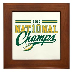 2010 Nat10nal Champs Framed Tile