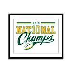 2010 Nat10nal Champs Framed Panel Print