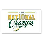 2010 Nat10nal Champs Sticker (Rectangle 10 pk)