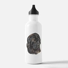 Newfie Portrait Water Bottle