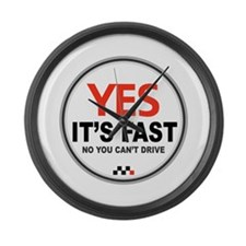 Yes It's Fast Large Wall Clock