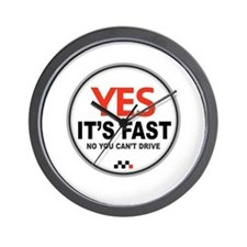 Yes It's Fast Wall Clock