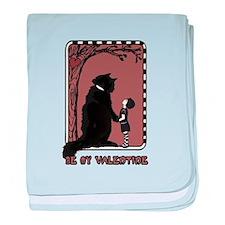 be my valentine cat emo baby blanket