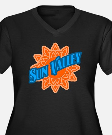 Sun Valley Orange Sun Women's Plus Size V-Neck Dar