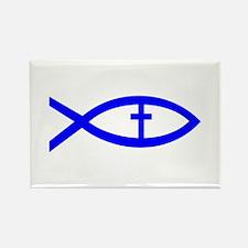 Cute Jesus fish symbol Rectangle Magnet