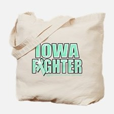 Iowa Ovarian Cancer Fighter Tote Bag