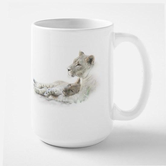 Lioness and Cub Large Mug