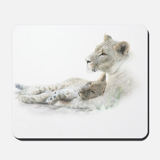 Lioness and Cub Mousepad